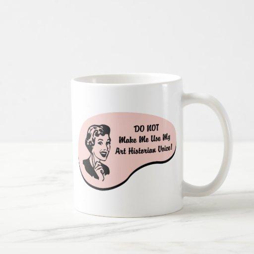 Voz del historiador de arte taza básica blanca