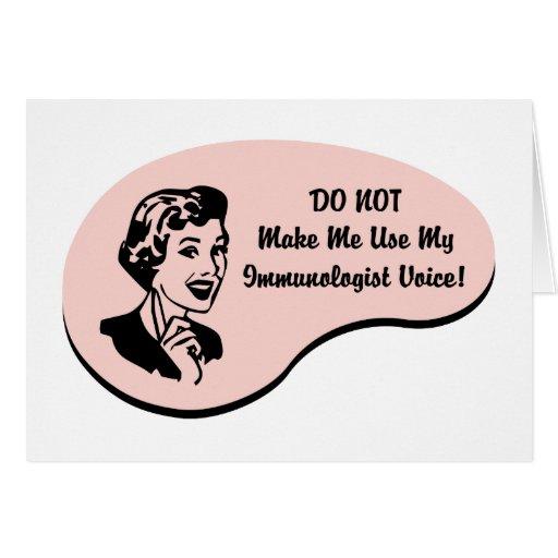 Voz del inmunologista tarjeta de felicitación