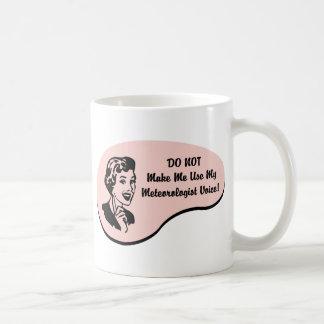 Voz del meteorólogo tazas de café