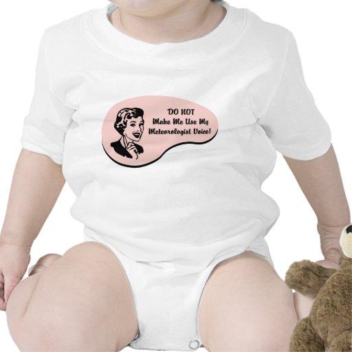 Voz del meteorólogo trajes de bebé
