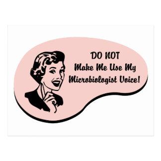 Voz del microbiólogo postal