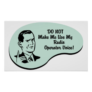 Voz del operador de radio póster