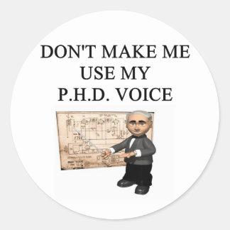 Voz del PHD Pegatinas Redondas