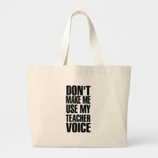 Voz del profesor (negro) bolsa tela grande