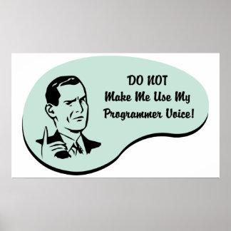 Voz del programador póster