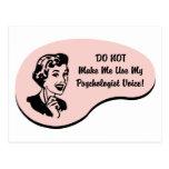 Voz del psicólogo tarjeta postal