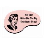 Voz del sociólogo tarjeta postal