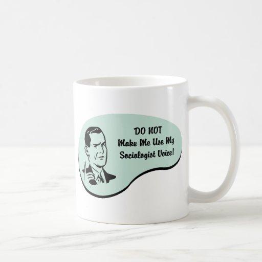Voz del sociólogo tazas de café