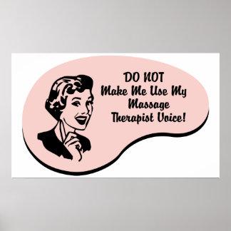 Voz del terapeuta del masaje posters