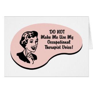 Voz del terapeuta profesional tarjeta de felicitación