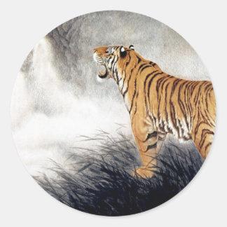Voz del tigre pegatina redonda