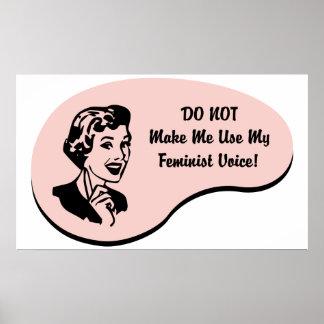 Voz feminista impresiones