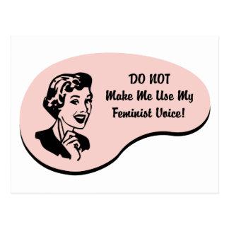 Voz feminista tarjeta postal