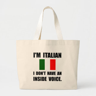 Voz interior del italiano bolsa tela grande