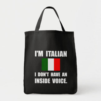 Voz interior del italiano bolsa tela para la compra