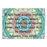 Voz interna de la CITA del ARTE de Vincent van Gog Felicitaciones