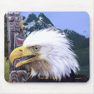 Voz sagrada Eagle calvo y cojín de ratón del tótem Alfombrilla De Ratón