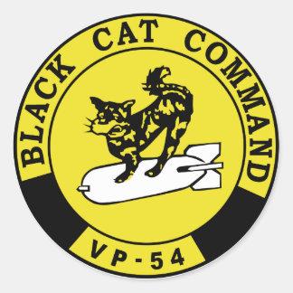 VP-45 Black Cats Classic Round Sticker