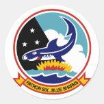 VP-6 BLUE SHARKS ROUND STICKER