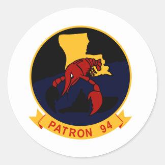 VP-94 Crawfishers Round Stickers