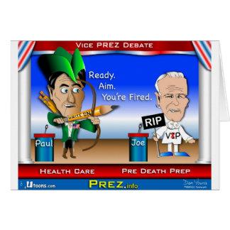 VP Debate 2 Greeting Card