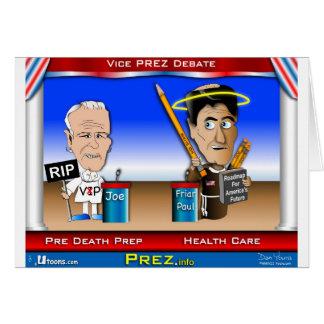 VP Debate Greeting Card