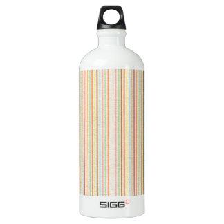 VPP stripes neutral tan Colorful patterns template Water Bottle