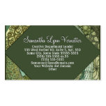 VPQ - Shades of Green Double-Sided Standard Business Cards (Pack Of 100)
