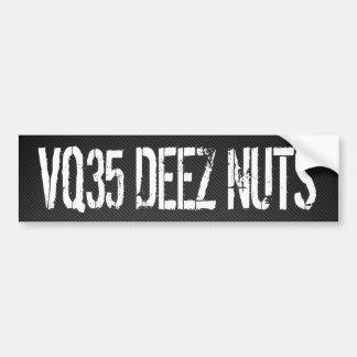 VQ35 Deez Nuts Car Bumper Sticker