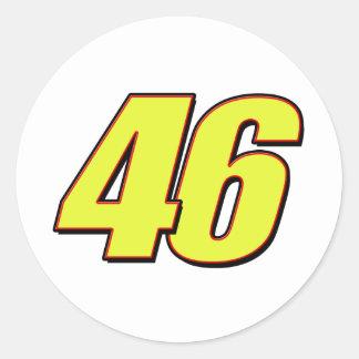 VR46redline Classic Round Sticker