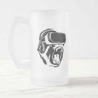 VR Gorilla Frosted Glass Beer Mug