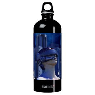 VR in the City 3D Art Water Bottle
