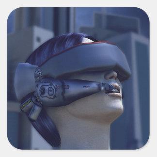 VR in the City Square Sticker