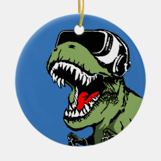 VR T-rex Ceramic Ornament
