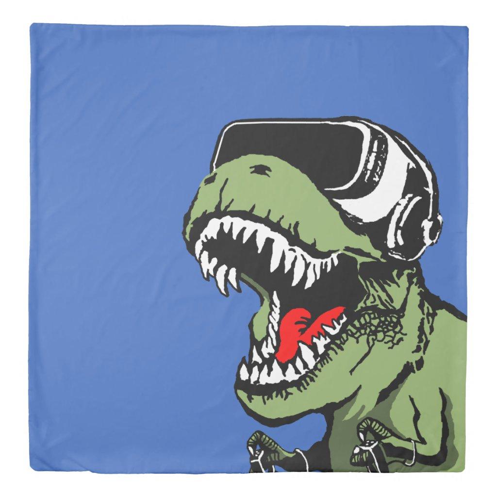 VR T-rex Duvet Cover