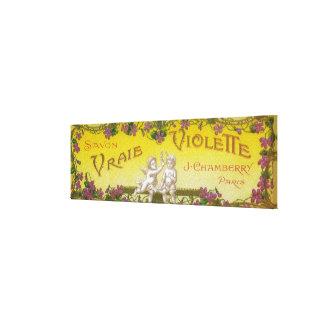 Vraie Violette Soap LabelParis, France Canvas Print