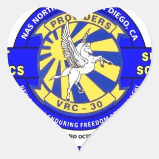 VRC-30 THE PROVIDERS U.S. NAVY HEART STICKER