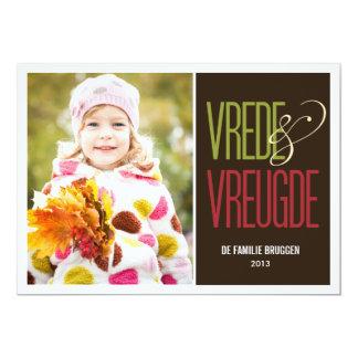 vrede en vreugde vakantie fotokaarten card