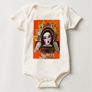 Vrgin of Guadalupe by Heather Galler Baby Bodysuit