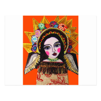 Vrgin of Guadalupe by Heather Galler Post Cards