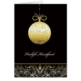 vrolijk Kerstfeest , Merry christmas in Dutch Greeting Card