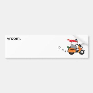 vroom. etiqueta de parachoque