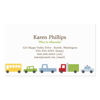 Vroom Vroom Cars Mommy Cards Business Card