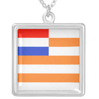 Vrystaat Vlag Square Pendant Necklace