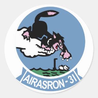 VS-31 Topcats Classic Round Sticker