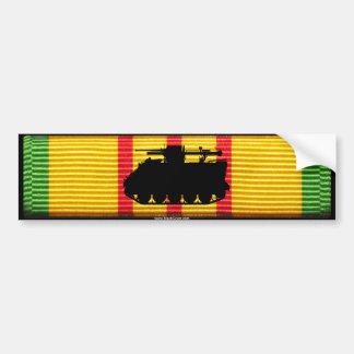 VSM Ribbon with M113 Recoilless Rifle Track Sticke Bumper Sticker