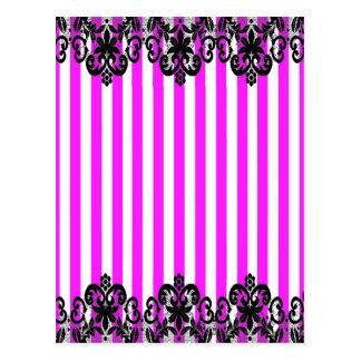 VSPinkStripeBlackLace2015 Post Cards