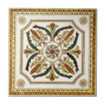 """VT0071 Reproduction Antique Transferware Tile<br><div class=""""desc"""">Historical antique tile reproduced on a smooth surface 4.25&quot; or 6&quot; ceramic tile. Perfect for interior tile wall accents, backsplashes, fireplace surrounds, bathroom and showers walls, kitchens and craft projects. Not intended for outdoor use. Our tiles are copies of costly authentic original antique tiles. Suggestion: Order one tile to review...</div>"""