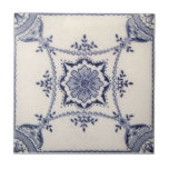 """VT0096 Reproduction Antique Transferware Tile<br><div class=""""desc"""">Historical antique tile reproduced on a smooth surface 4.25&quot; or 6&quot; ceramic tile. Perfect for interior tile wall accents, backsplashes, fireplace surrounds, bathroom and showers walls, kitchens and craft projects. Not intended for outdoor use. Our tiles are copies of costly authentic original antique tiles. Suggestion: Order one tile to review...</div>"""