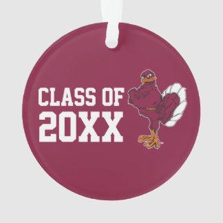 VT Class of with Hokie Bird Ornament